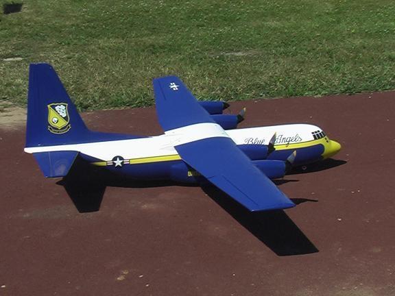 C130 électrique prêt pour le décollage