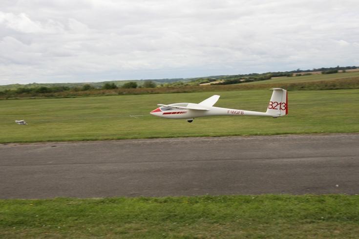 Hervé au décollage.