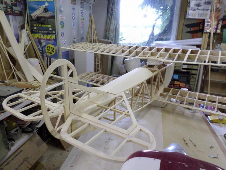 FOKKER DVII en construction par Patrick BAUDIN